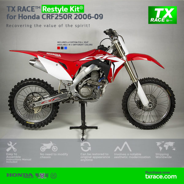 TX RACE™ Restyle Plastic Kit® for Honda CRF250R 2006-2009
