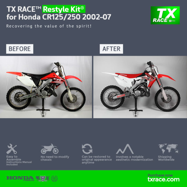 TX RACE™ Restyle Plastic Kit® for Honda CR125/250 2002-2007