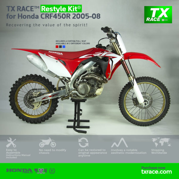 TX RACE™ Restyle Plastic Kit® for Honda CRF450R 2005-2008
