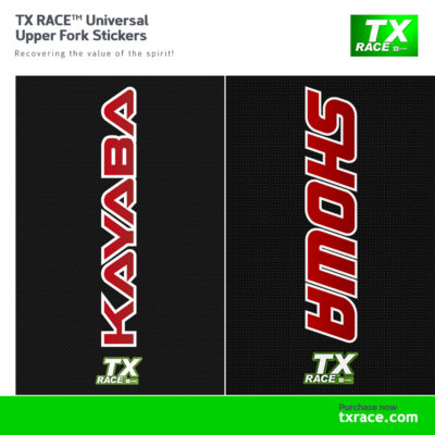 TX RACE™ Universal Upper Fork Stickers